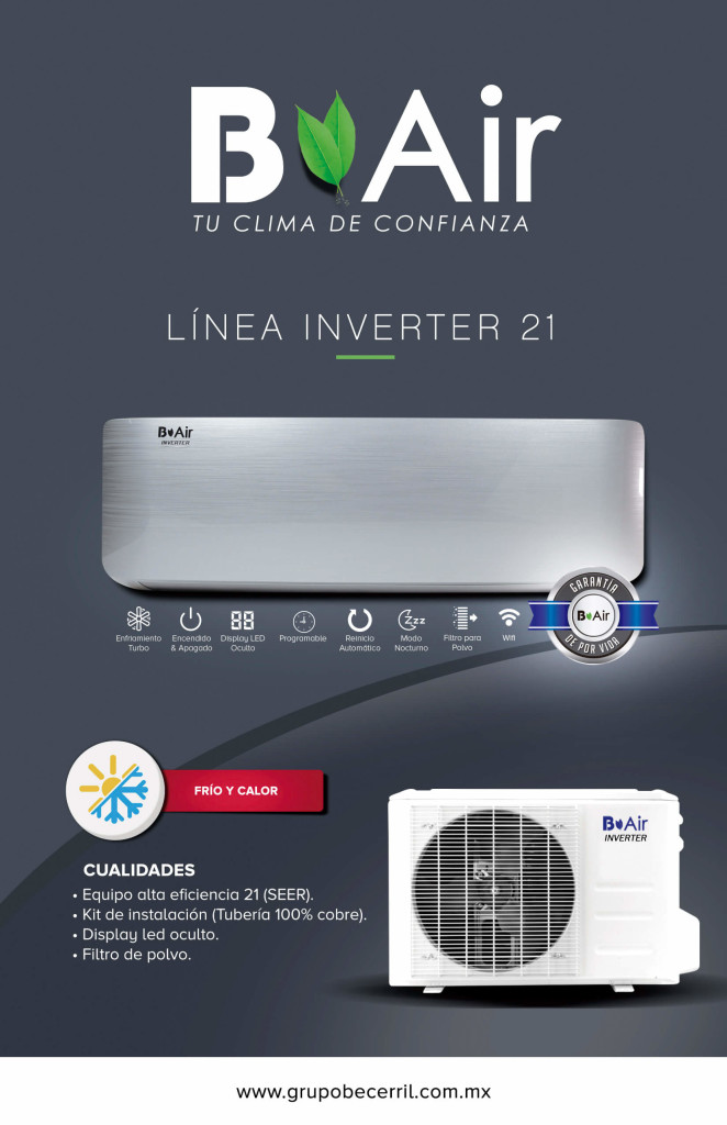 Aire Acondicionado B Air Linea Inverter 21